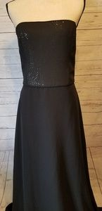 Black strapless prom dress
